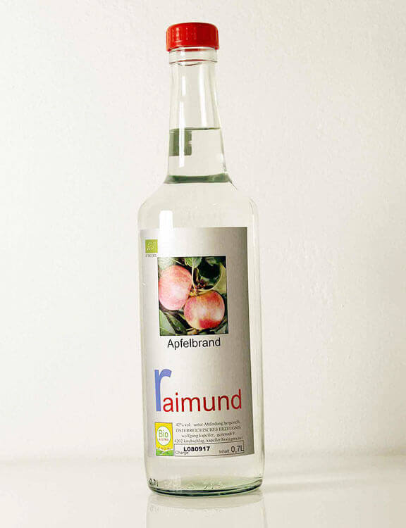 Apfelbrand Streuobstwiesenapfel Biohof Raimund