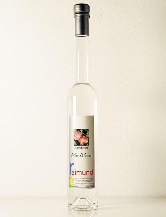 Apfelbrand Golden-Delicious Biohof Raimund
